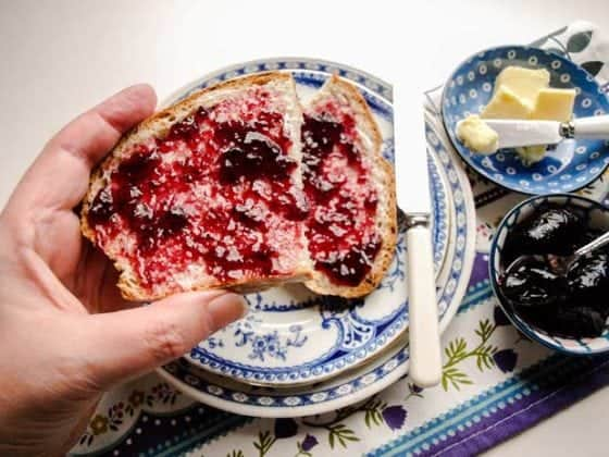 Easy Sourdough Bread with Jam