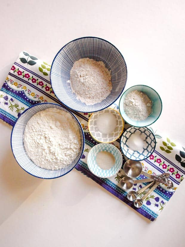 Ingredients for Easy Sourdough bread