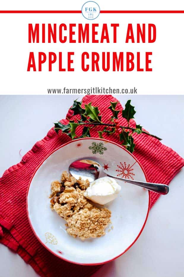 Bowl of crumble dessert