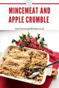 Dish of Mincemeat and Apple Crumble