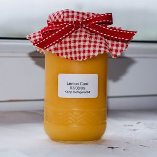 lemon curd in a jar