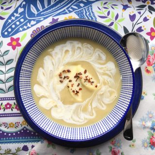 A seasonal bowl of Spicy Parsnip and Apple Soup