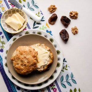 Simple Date and Walnut Scones, what a great combination