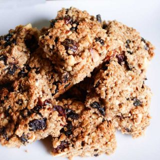 Naturally sweet Cranberry and Sour Cherry Flapjack Recipe