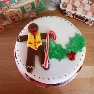 Sweet Gingerbread Man Christmas Cake Decoration