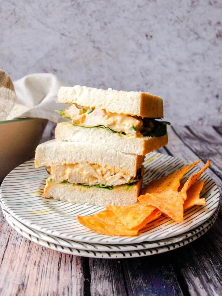 Coronation Turkey Sandwich with Tortilla chips