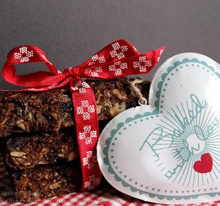 Chocolate Cherry Energy Bars for Breakfast Week