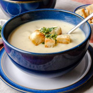 Bowl of Cauliflower Cheese Soup