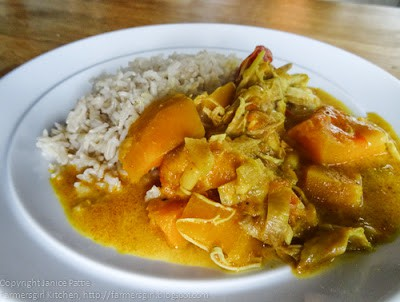 plate of curry with rice