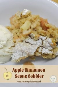 Apple Cinnamon Scone Cobbler - a comforting dessert and a proper pudding
