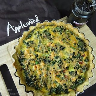 Kale and Smoked Cheese Tart