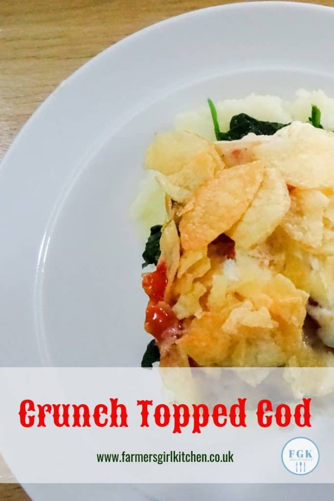 Crunch Topped Cod, a simple supper dish made under the grill (broiler) #cod #supper #recipe