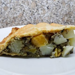 A great way to feed a lot of people,, this Haggis Neeps and Tattie Pie is a bit like a Cornish Pastie and just as delicious #haggis