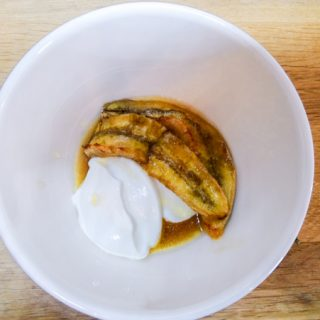 A quick and delicious dessert - Rum Baked Bananas