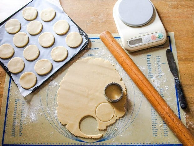 Making shortbread cookies for Strawberry Shortbread Ice Cream Sandwich