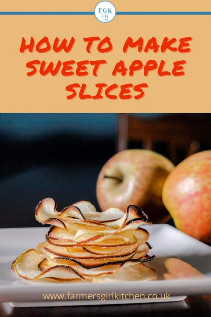 stack of baked sweet apple slices