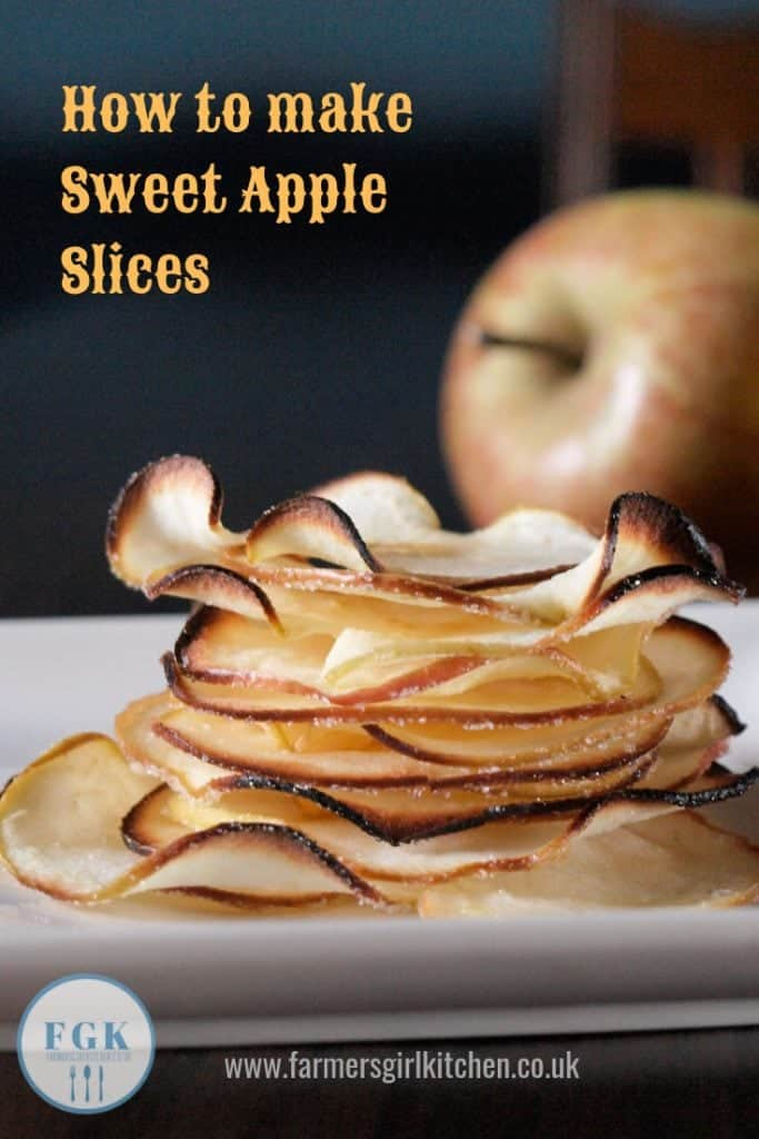 Stack of baked apple slices