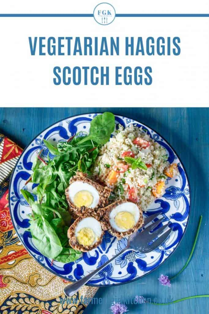 Vegetarian Scotch Eggs on a Plate