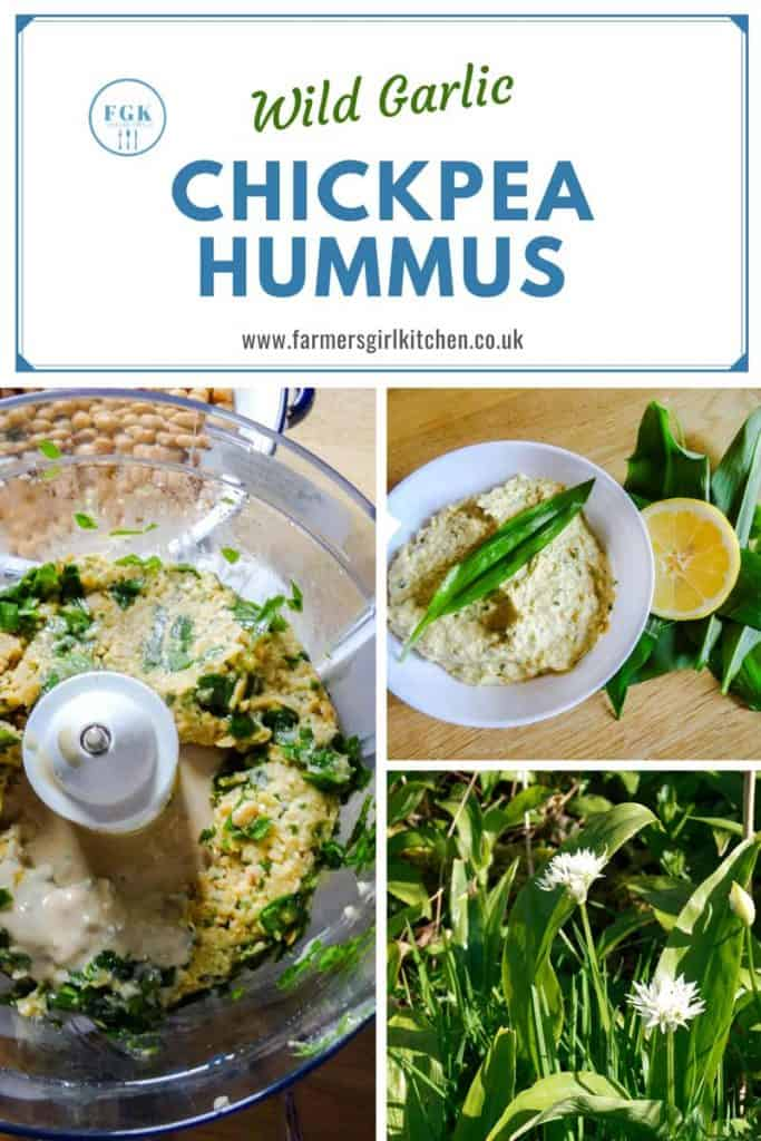 Making Wild Garlic Hummus