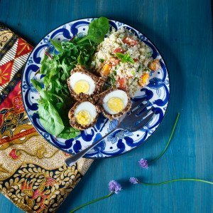 Moroccan Vegetarian Scotch Eggs