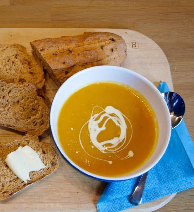 Carrot, Ginger and Butternut Squash Soup