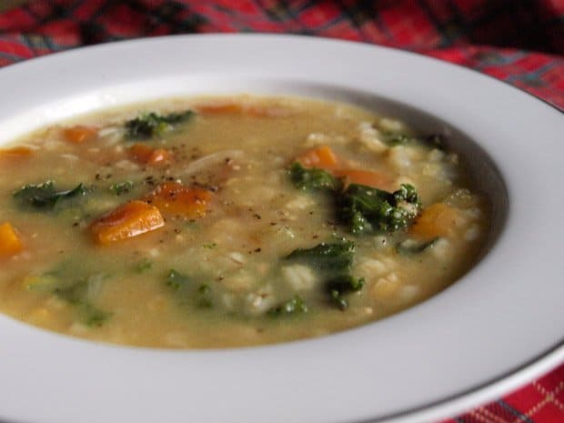 This is a vegetarian Scotch Broth Soup Recipe but you can make it with meat stock if you prefer