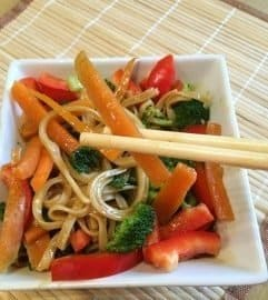 Quick and Easy Vegetable Noodle Bowl