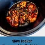 Slow Cooker Honey and Garlic Chicken - an easy dump and go recipe that you marinade overnight #chicken #honey #soy #garlic #recipe