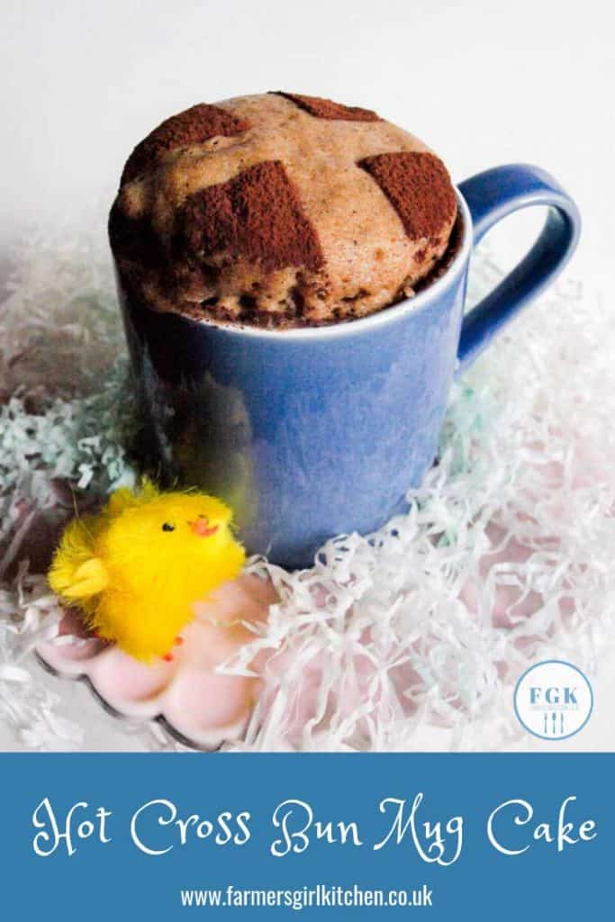 Quick and Easy Hot Cross Bun Mug Cake, get your Easter Treat in minutes