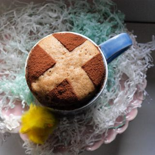 Easter Hot Cross Bun Mug Cake