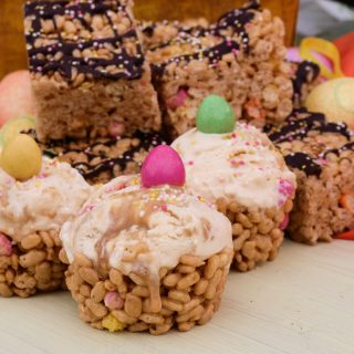 Fiesta Rice Krunchie Bars and Edible Ice Cream Bowls
