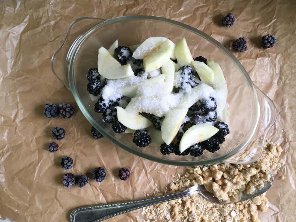 Blackberry and Apple Crumble - perfect comfort food