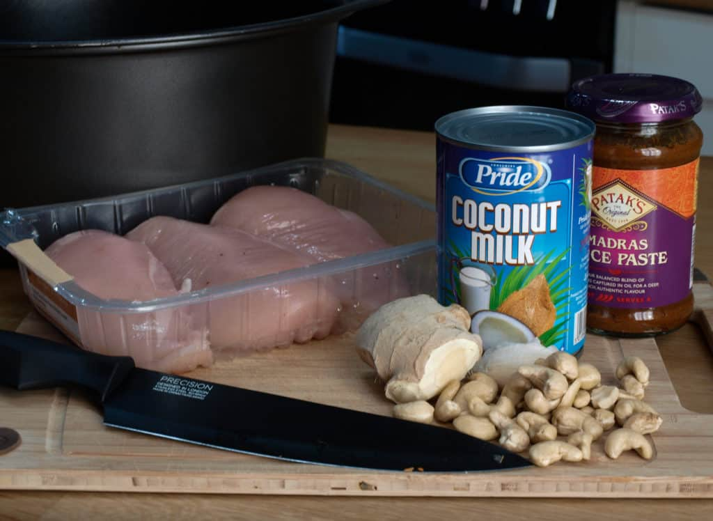 Ingredients for Slow Cooker Coconut Chicken Curry