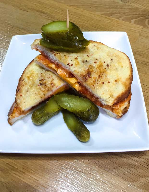 Air Fryer Cheese and Salsa French Toast Sandwich