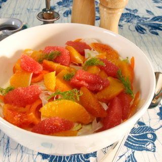 Fennel and Orange Salad with or without Hot Smoked Salmon