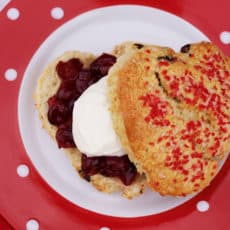 Valentine Cranberry Orange Scones