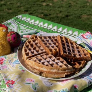 Hot Cross Bun Waffles - Easter starts here