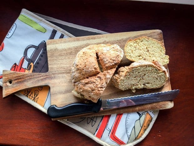 Once cooled you can slice your Wholemeal Irish Soda Bread or break it into four quarters.