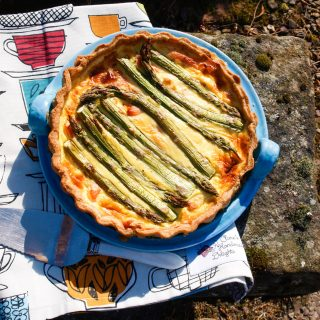 A delicious summer tart with Smoked Salmon and Asparagus Tart