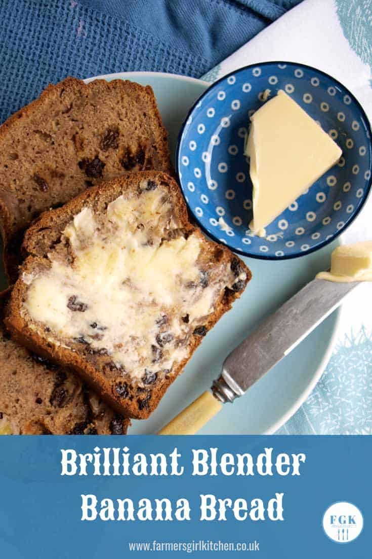 Brilliant Blender Banana Bread is so easy to make, the ingredients go in the blender and whizz it's in the oven #blender #review #froothie #banana #bread #reasy #recipe