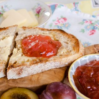 Easy Plum jam on bread
