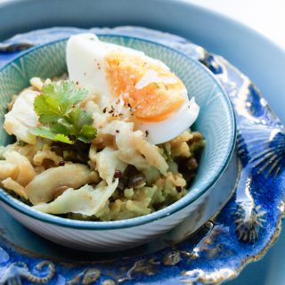 Delicious Kedgeree with Crispy Shallots from The Flexible Vegetarian