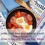 Enjoy this One Pan Polish Breakfast, it makes a perfect brunch or lazy weekend breakfast with minimum of washing up! #breakfast #polish #kielbasa