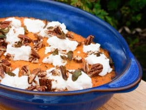 Sweet Potato Mash with Sage and Pecan Nuts
