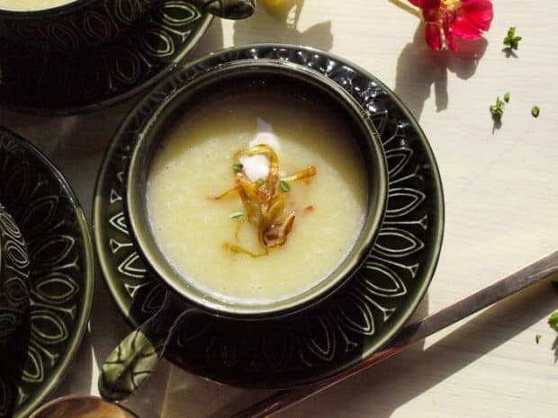 A delicious bowl of Leek and Potato Soup