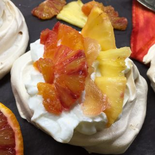 Brilliant Blood Orange and Pineapple Pavlovas