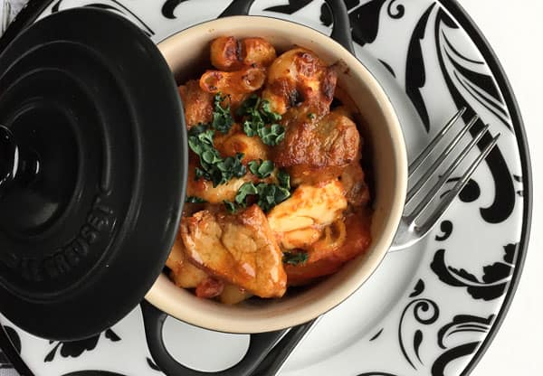 Comforting Pork & Paprika Goulash Bake - a comforting dish for the cooler days