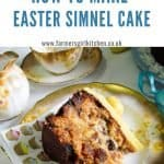 A slice of Easter Simnel Cake