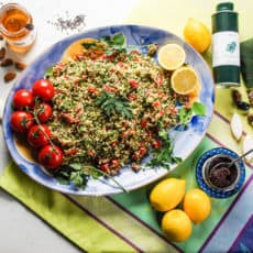 Lemon and Mind Tabbouleh Salad is fresh and flavourful #tabbouleh #salad