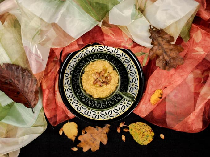 Roast Pumpkin Hummus - flavours of the season